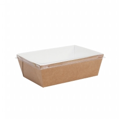 Take away lunch box with plastic lid